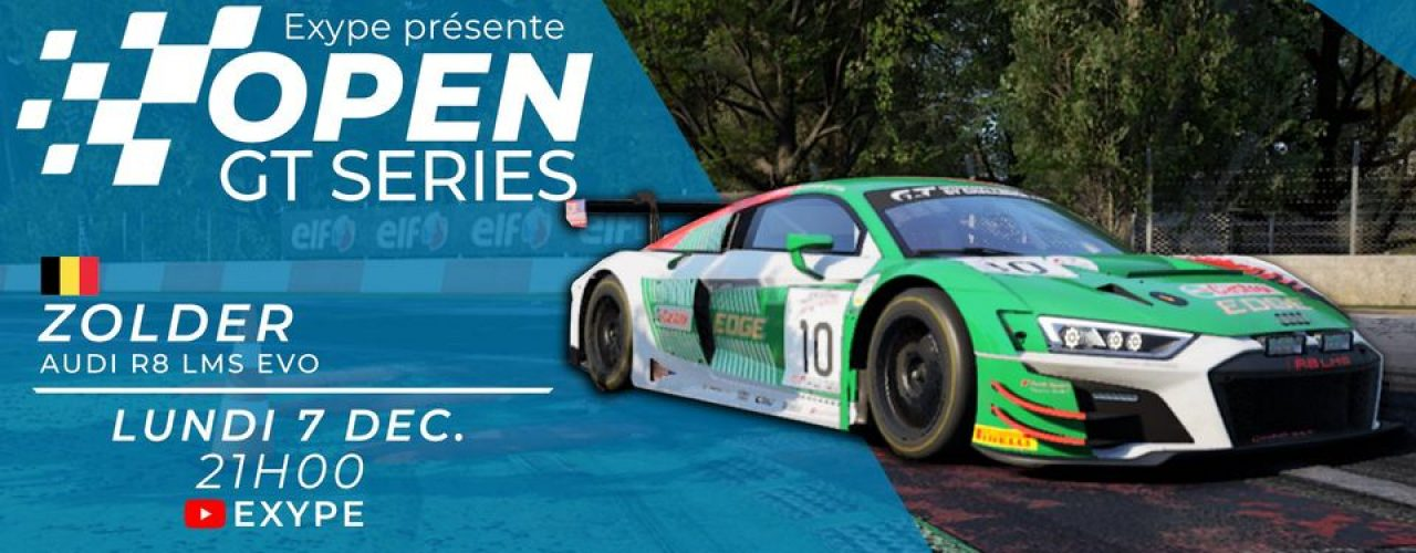 OPEN GT SERIES by Exype – ZOLDER – Audi R8 LMS EVO [CORRECTION]